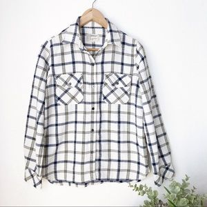 Current/Elliot button down flannel top